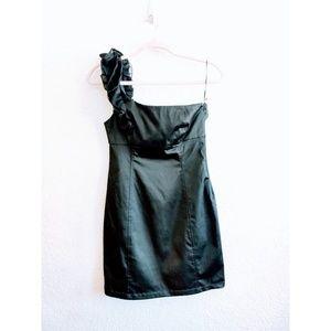 Zara One Shoulder Black Dress Size Medium